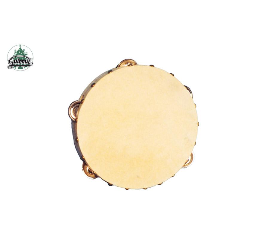 Pandereta de piel de 16.5 cm. Perfecta también como Complemento de los disfraces de Gitana o Zíngara.