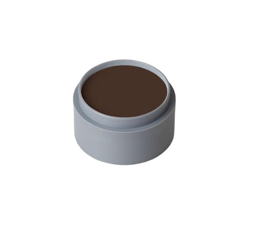 Maquillaje en crema (cremè make-up 1001), de 2,5 ml, de color marrón oscuro.  Fácil de usar, se quita con agua y jabón, antialérgico.