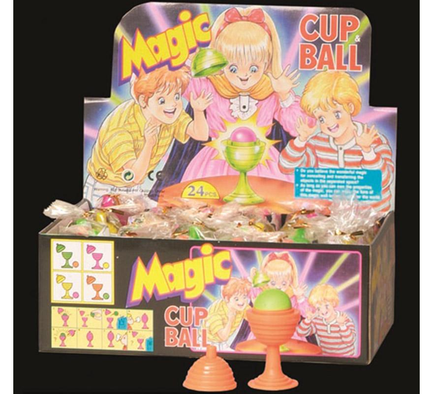 Copa con bola para hacer magia. LA bola desaparece y aparece mágicamente. Precio por unidad, se venden por separado.