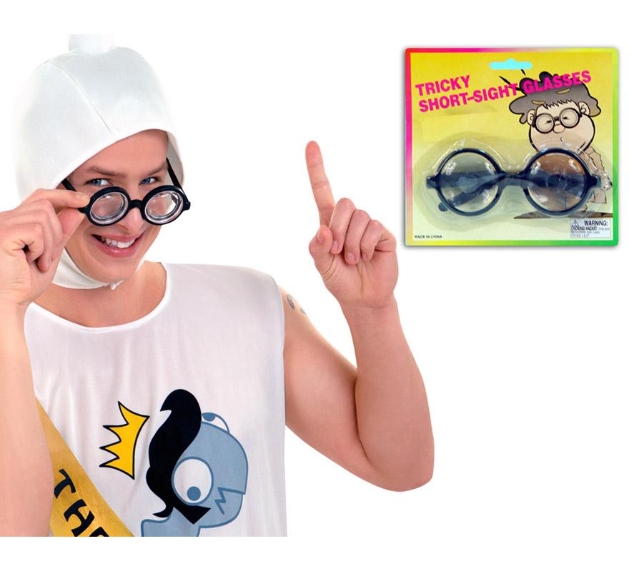 Gafas con cristales gruesos. Gafas de Tonto.
