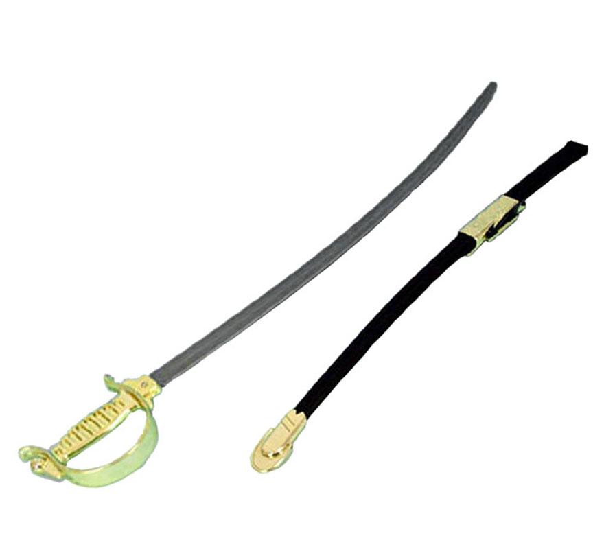 Espada con funda del Séptimo de Caballería de 79x13 cm, se puede colgar en la cintura. Perfecto también como complemento del disfraz de Gran Duque ref. 86472GUI.