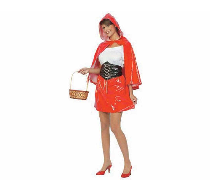 Disfraz de Caperucita Sexy adulta. Talla standar M-L = 38/42. Incluye falda, camisa, cinturón, capa con capucha. ¡¡Compra tu disfraz para Carnaval en nuestra tienda de disfraces, será divertido!!