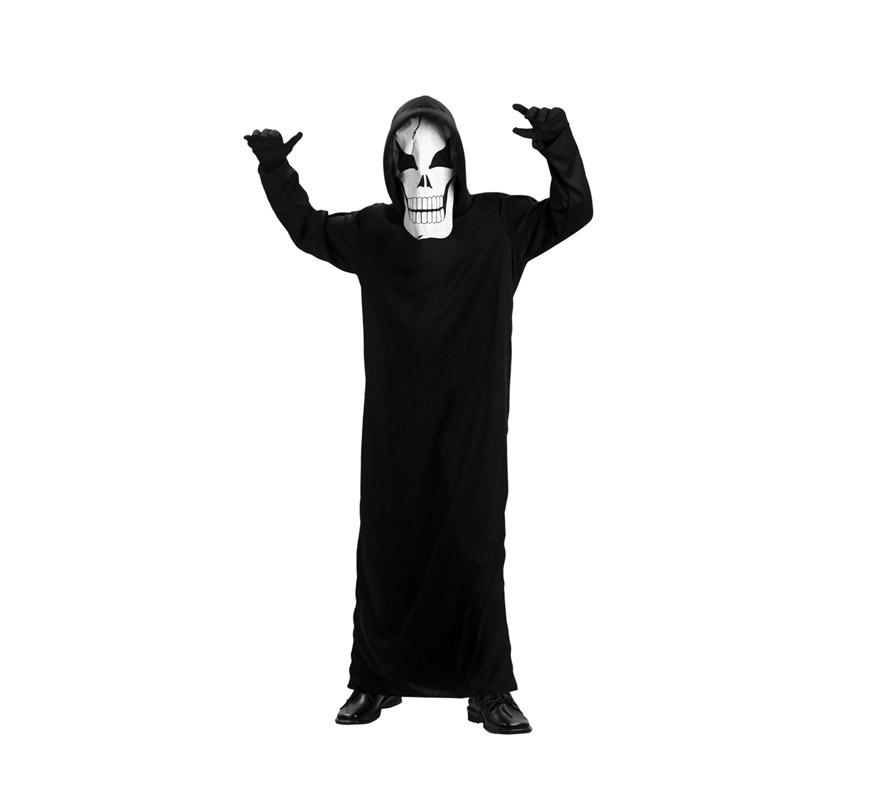 Disfraz de Fantasma económico talla de 10 a 12 años. Incluye túnica con capucha y máscara. Disfraz de Scream. Disponible en 3 colores surtidos, precio por unidad, se venden por separado.