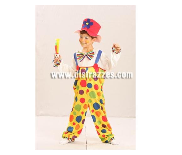 Disfraz de Payaso para niñso de 10 a 12 años. Incluye disfraz completo SIN bocina.