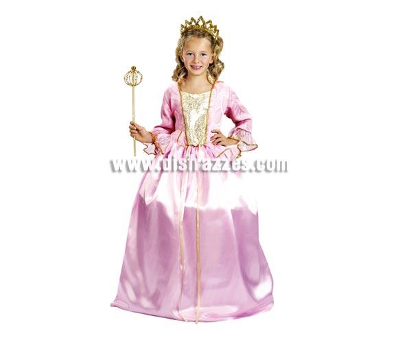 Disfraz de Princesa infantil. Talla de 5 a 6 años. Incluye vestido y diadema. Un disfraz de Princesa Bella económico ideal para regalar en cualquier fecha del año.