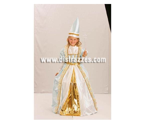 Disfraz de Hada Madrina talla de 7 a 9 años. Incluye vestido y sombrero.