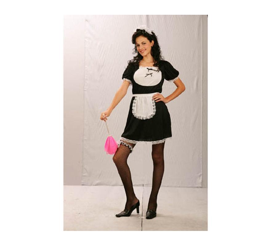 Disfraz de Sirvienta adulta económico. Talla standar M-L = 38/42. Incluye: cofia, vestido y delantal. En este momento sólo en color rojo. Perfecto para Despedidas de Soltera.
