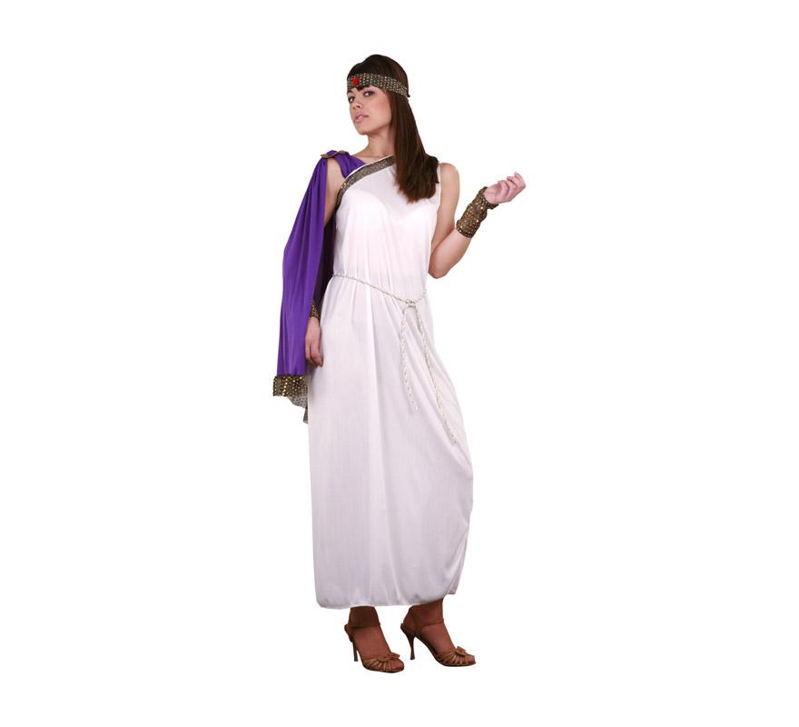 Disfraz de Diosa del Olimpo adulta. Disfraz de Romana para mujer. Talla Standar M-L = 38/42. Incluye vestido, capa y tocado.