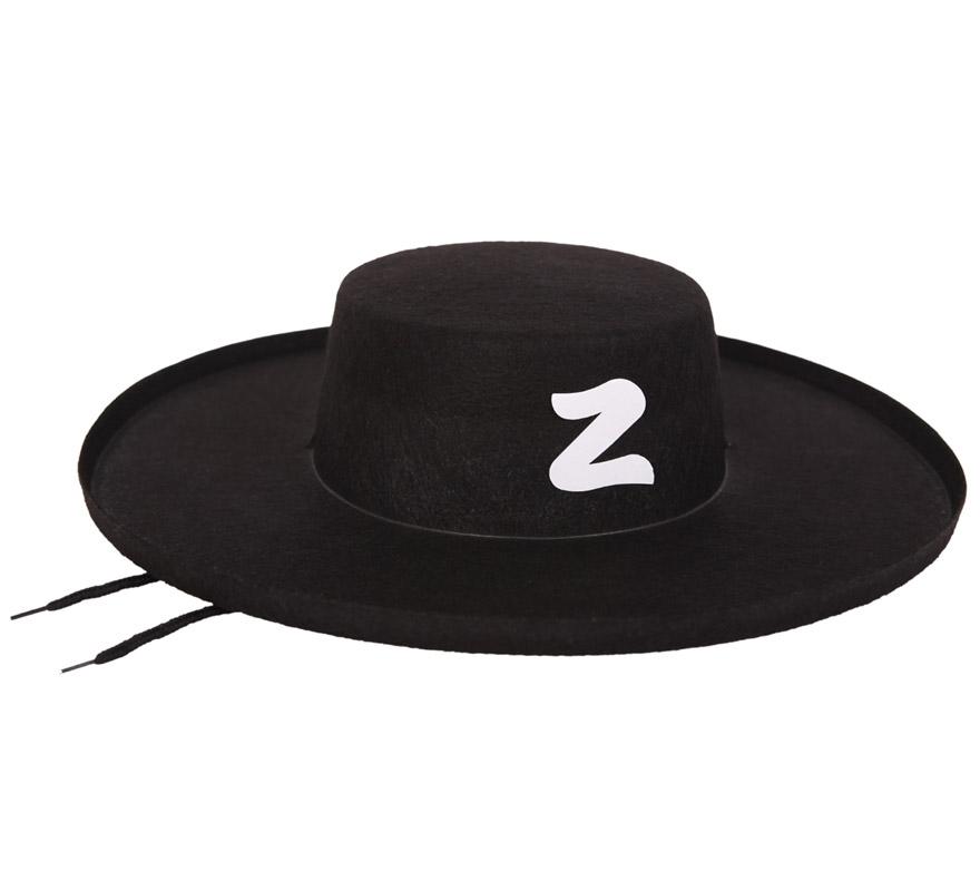 Sombrero Zorro adulto para Carnaval. Talla universal adulto.