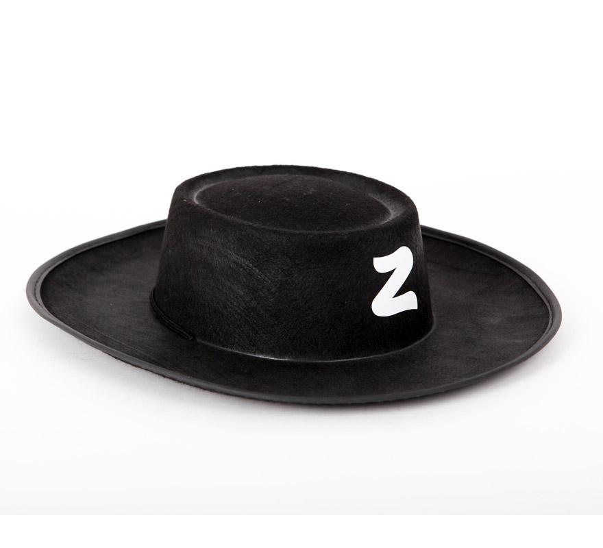 Sombrero de El Zorro niño para Carnaval. Talla universal de niños.