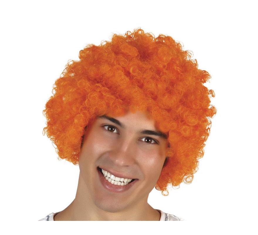 Peluca de Payaso naranja.