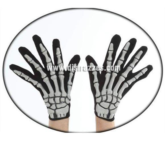 Guantes de Esqueleto 30 x 15 cm. El complemento ideal para tu disfraz de Esqueleto o Calavera.