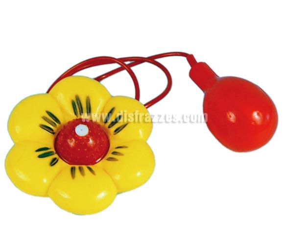Flor lanza agua para gastar una broma o como Complemento de tu disfraz de Payaso en Carnaval.