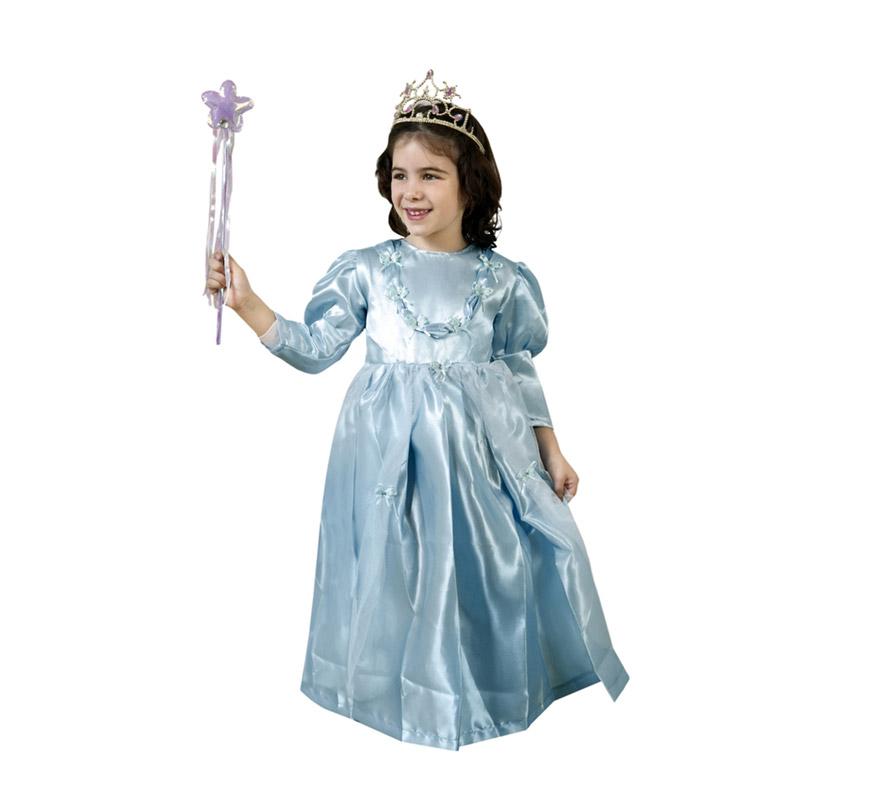 Disfraz de Princesa Azul para niñas de 2-4 años. Incluye vestido. Varita y corona NO incluidas, podrás encontrar en nuestra sección de Complementos.