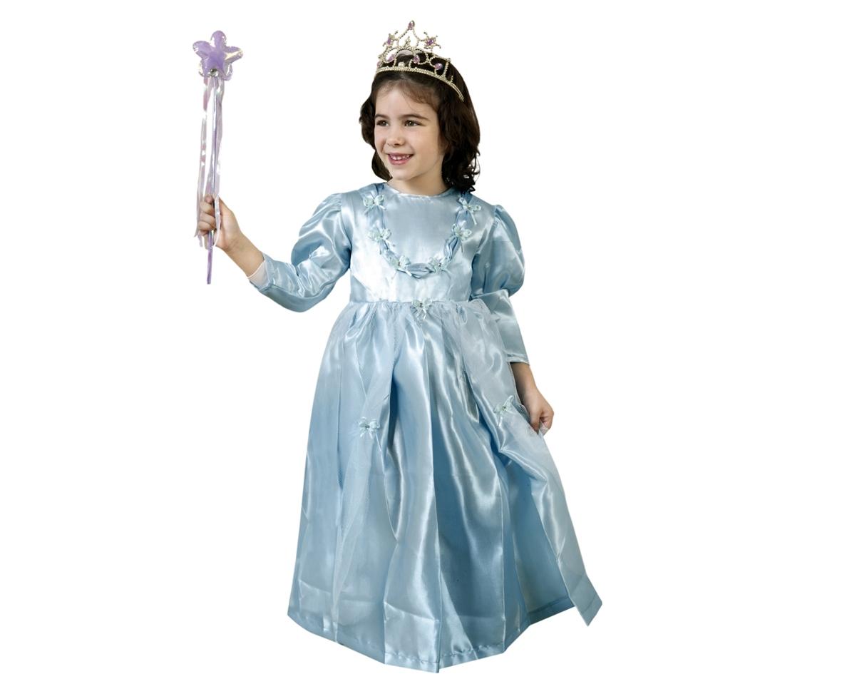 Disfraz de Princesa Azul para niñas de 10-12 años. Incluye vestido. Varita y corona NO incluidas, podrás encontrar en nuestra sección de Complementos.