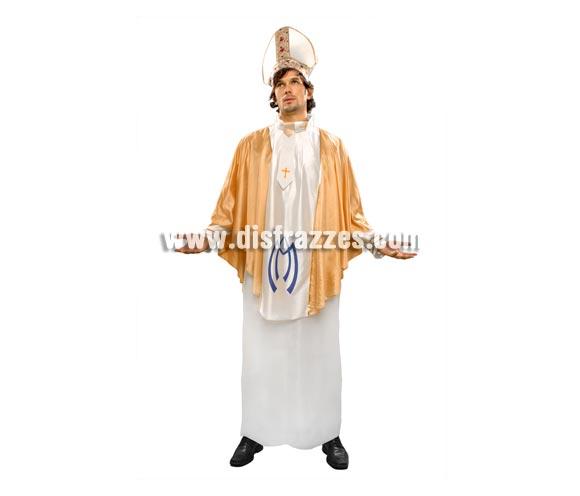 Disfraz de Obispo adulto. Talla standar M-L = 52/54. Incluye gorro y traje.