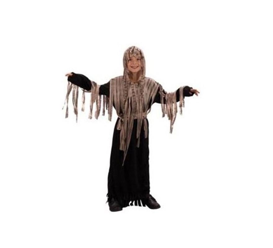 Disfraz de Zombie Económico talla de 10 a 12 años. Incluye túnica con capucha y cinturón.