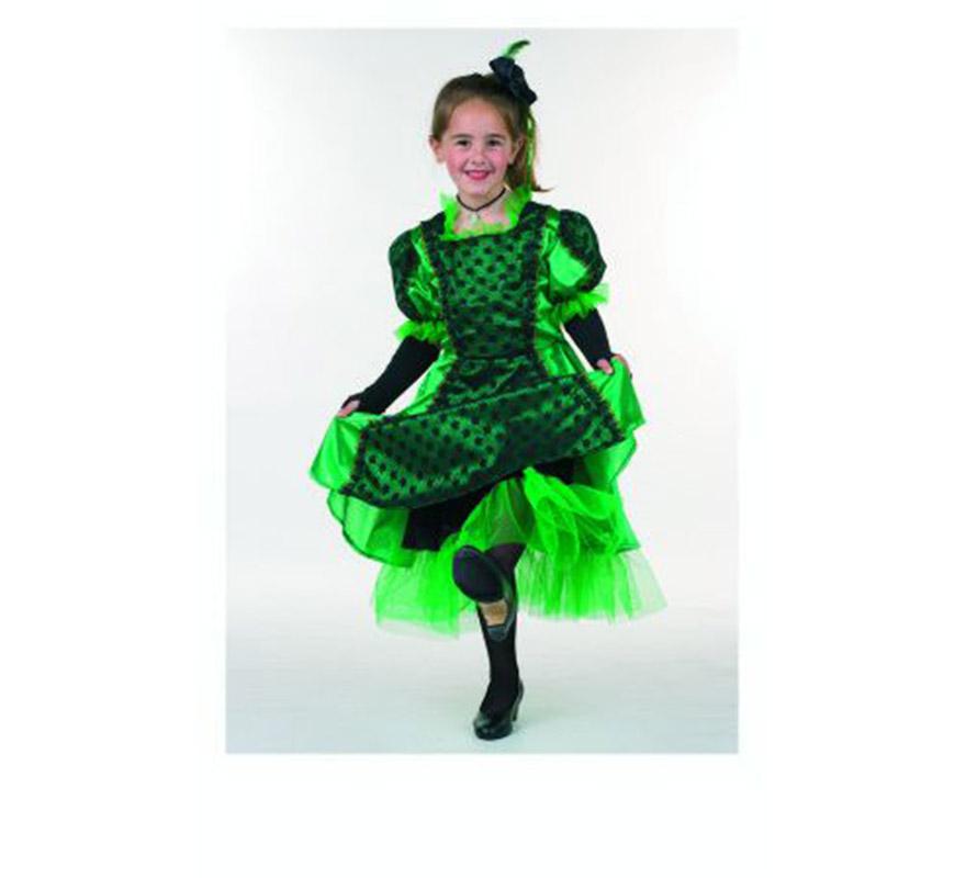 Disfraz de Can-Can infantil. Alta calidad. Hecho en España. Disponible en varias tallas. Incluye tocado y vestido.