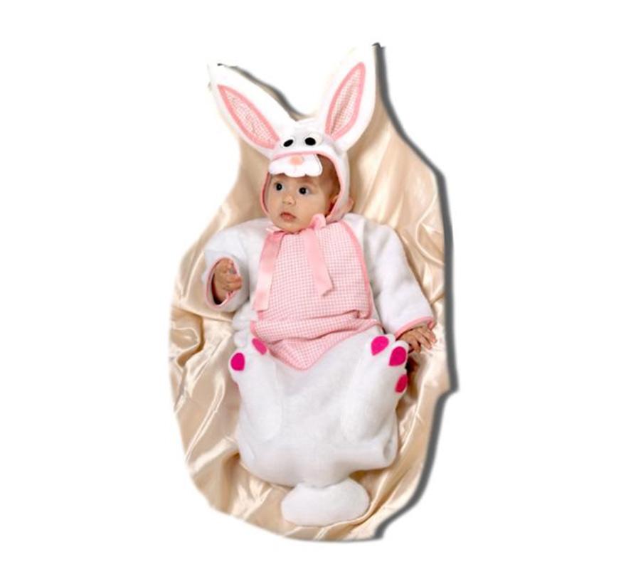 Saquito Conejo bebé. Talla de 0 a 6 meses. Alta calidad. Hecho en España. Incluye saquito y gorrito.