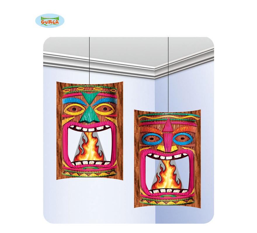 Set 2 colgantes decorativos para Fiestas Hawaianas simulación Fuego.