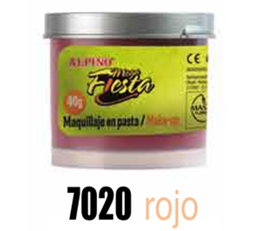Bote 40 gr. de maquillaje en pasta ALPINO color rojo. Ideal para Colegios, Guarderías y para Fiestas y Cumpleaños. Producto cosmético. Fácil aplicación, se quita con agua y jabón.