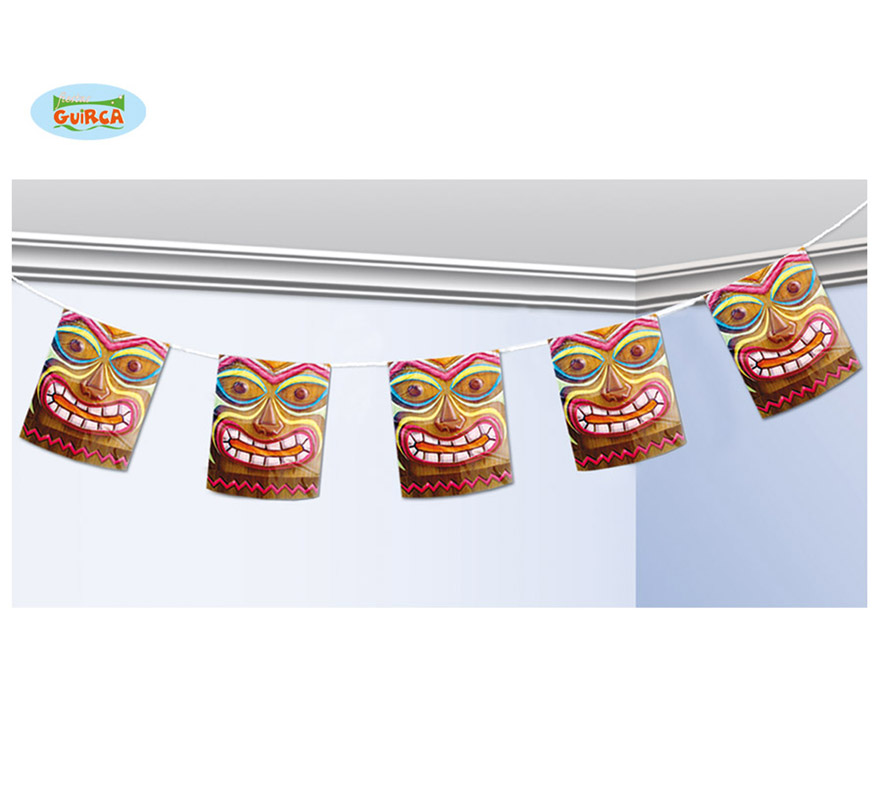 Banderas Luau 366 cms. Perfectas para decoración de Fiestas Hawaianas en veranito.