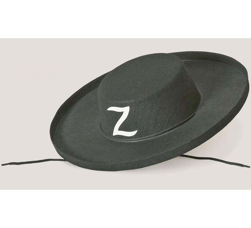 Sombrero de El Zorro de fieltro.
