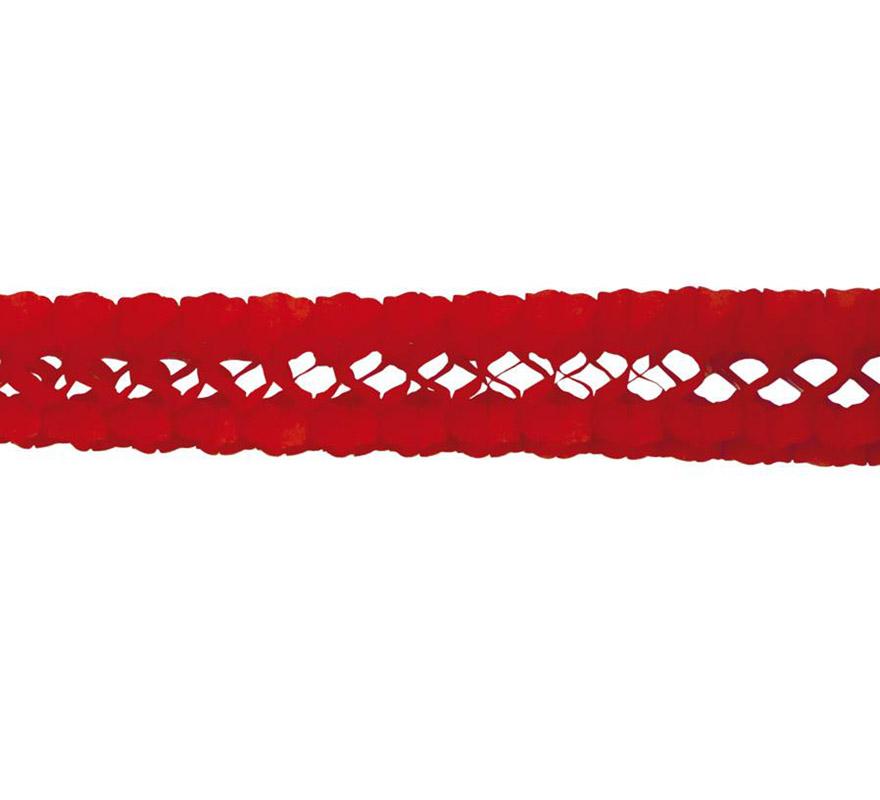 Guirnalda de papel en color rojo de 17x300 cm