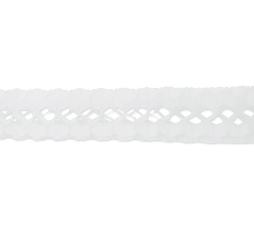 Guirnalda de papel en color blanco de 17x300 cm