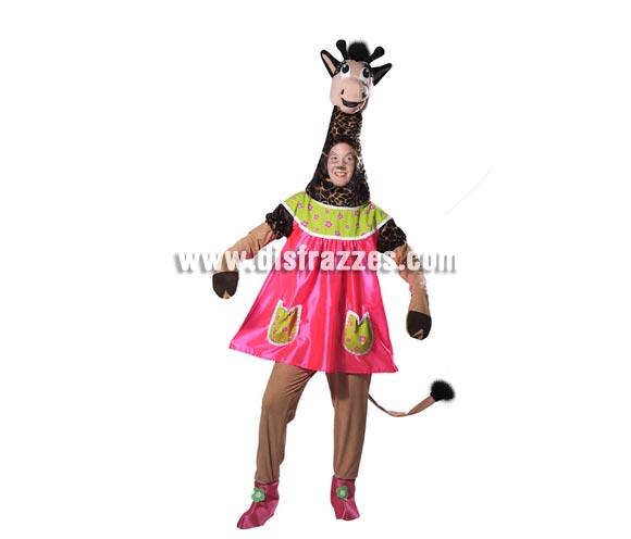 Disfraz de Jirafa chica para mujer. Talla universal de mujer. Incluye disfraz completo como se muestra en la imagen.