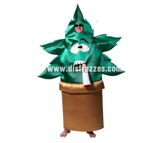 Disfraz barato de Maceta Planta de Marihuana para adultos