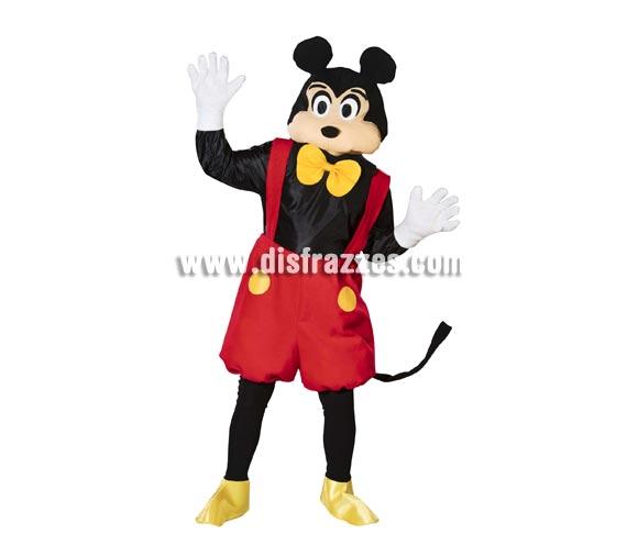 Disfraz de Ratón o Ratoncito para hombres. Talla Standar de hombre = 50. Incluye disfraz completo con máscara y guantes, tal y como se muestra en la imagen. Con éste traje podrás imitar a Mickey Mouse.