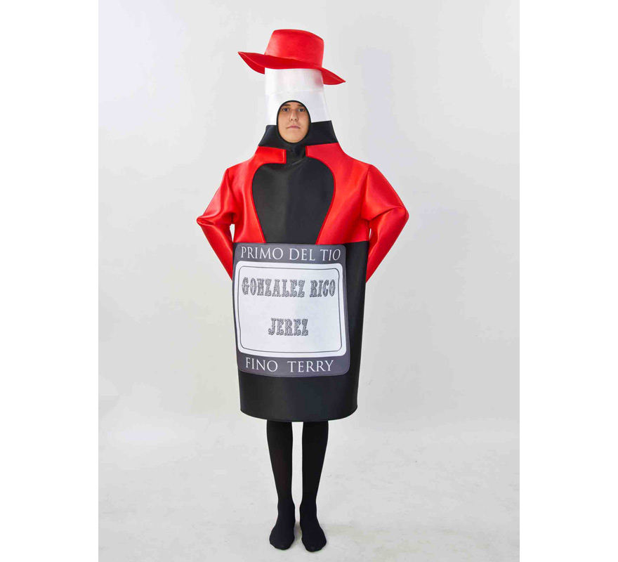 Disfraz del Primo del Tio Pepe para adultos. Disponible en talla de mujer (44) y de hombre (50). Incluye disfraz completo tal y como sale en la imagen. Fabricado en España. Este traje es muy original y diferente, perfecto para Grupos, Peñas y Comparsas.