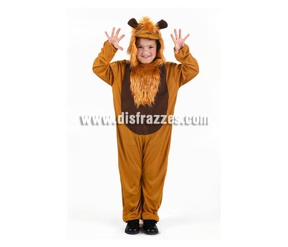 Disfraz de León infantil. Talla de 5 a 6 años. Incluye mono y capucha.