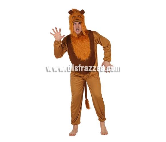 Disfraz de León adulto. Talla Standar M-L = 52/54. Incluye mono y capucha. Perfecto para convertirte en el fantástico personaje del Mago de Oz y vivir múltiples aventuras junto a Dorothy.