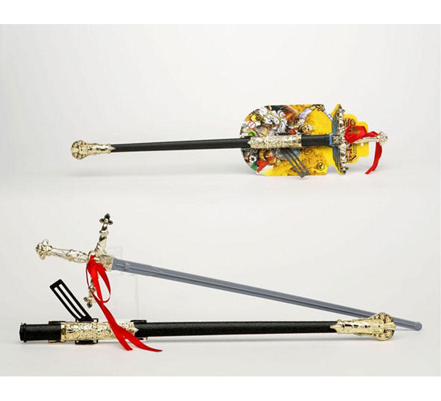 Espada con solapa de Guerrero con funda de 67 cm. También puede valer como Florete de Mosquetero o de Espadachín.