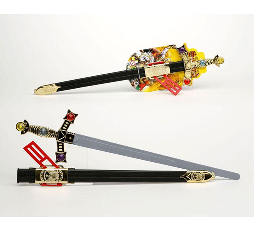 Espada con solapa de Rey Medieval con funda de 66 cm.
