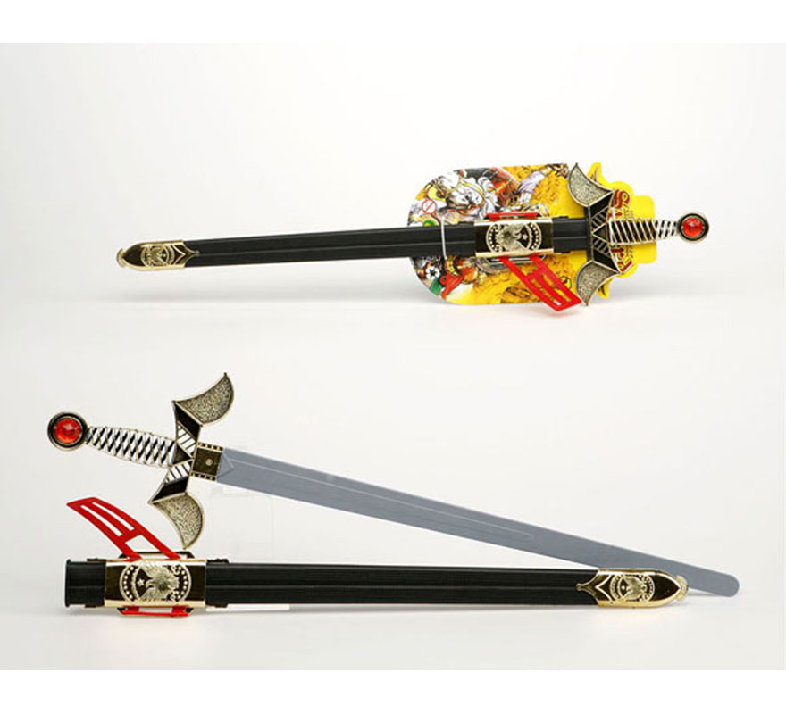 Espada con solapa de Soldado Medieval con funda de 65 cm.