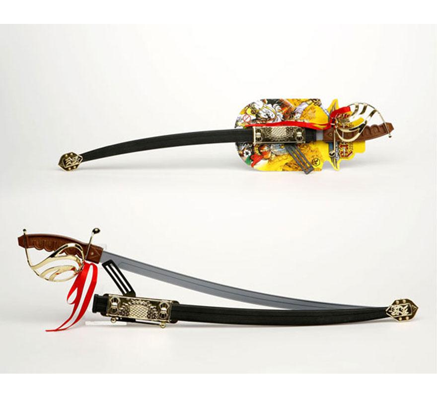 Espada con solapa de Espadachín con funda de 70 cm