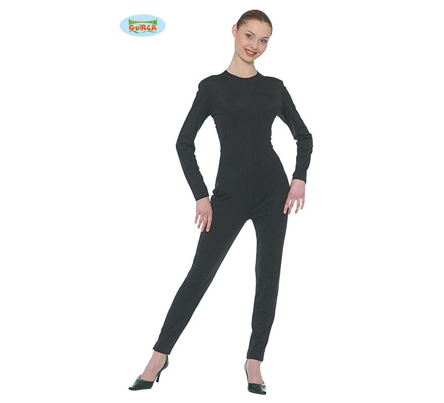 Maillot o mono de color negro adulto para Carnaval. Ideal para ponértelo debajo de tu disfraz si crees que vas a pasar frío.
