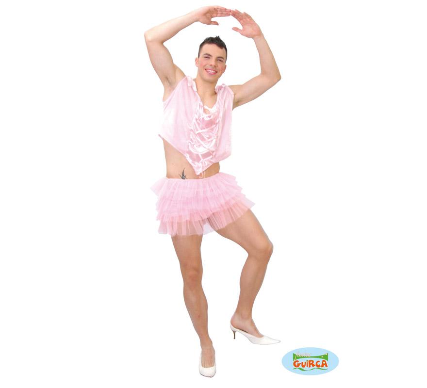 Disfraz de Bailarina Hombre adulto para Carnavales. Talla única 52/54. Incluye blusa y tutú. Perfecto para Despedidas de Soltero. ¡¡Compra tu disfraz para Carnaval en nuestra tienda de disfraces, será divertido!!