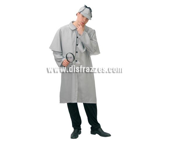 Disfraz de Sherlock Holmes Adulto. Talla única 52/54. Incluye gorra y abrigo-capa. Lupa NO incluida, podrás verla en la sección de Complementos.