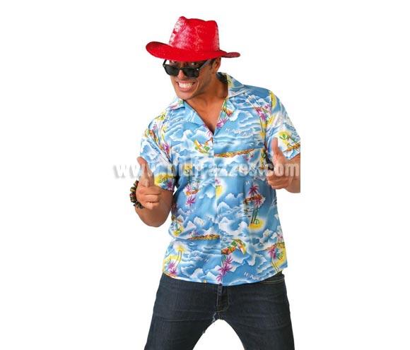 Disfraz de Camisa Hawaiano Adulto. Talla Standar 52/54. Incluye camisa. Gafas NO incluidas, podrás verlas en la sección de Complementos. Camisa de Turista ideal para disfrazarse en verano para Fiestas Hawaianas y para Despedidas de Soltero.
