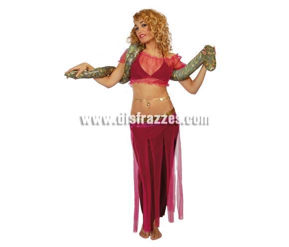 Disfraz de Encantadora de Serpientes adulta. Talla única 38/42. Incluye Top, sujetador, falda y serpiente. Disfraz de Bailarina del vientre para mujer.