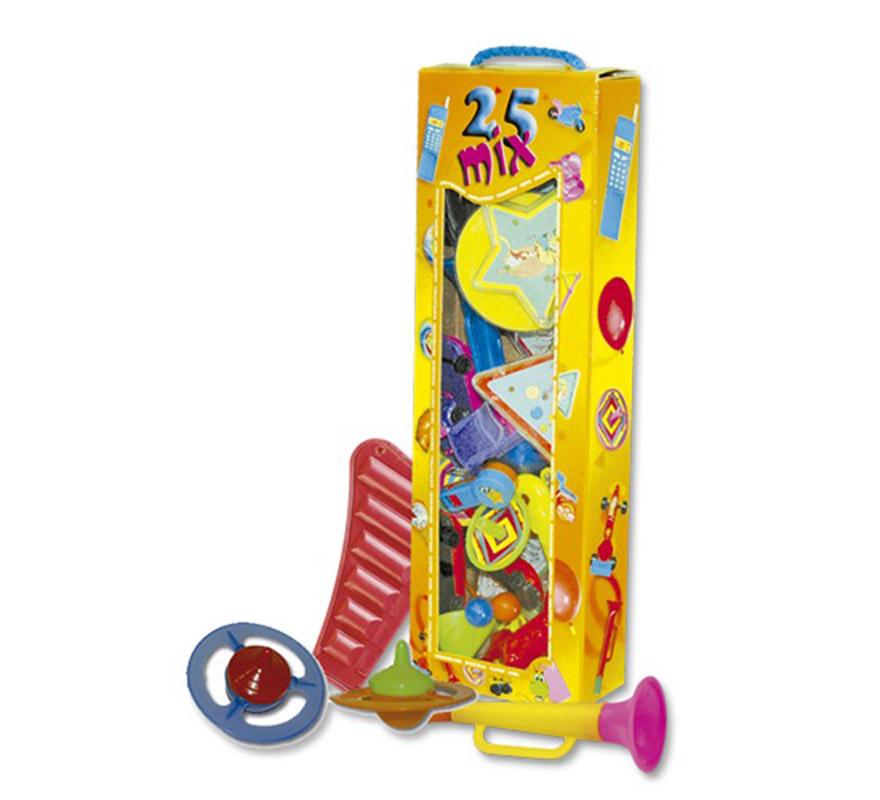 Estuche de 25 juguetitos o baratijas para rellenar las piñatas.