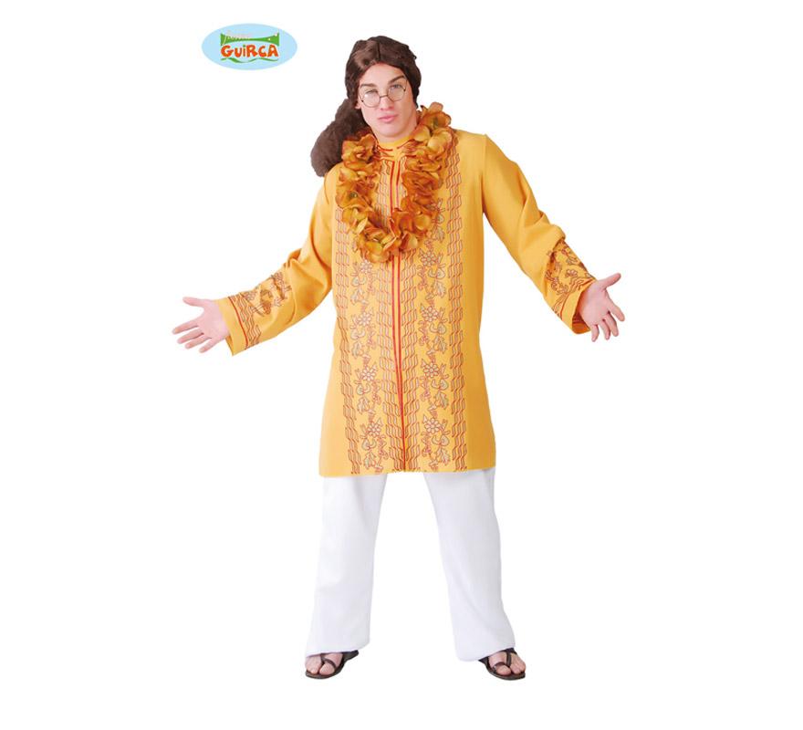 Disfraz de Gurú del Amor para hombre adulto. Talla Standar 52/54. Incluye sólo la casaca. Éste disfraz también puede valer como disfraz de Hippie para hombre.