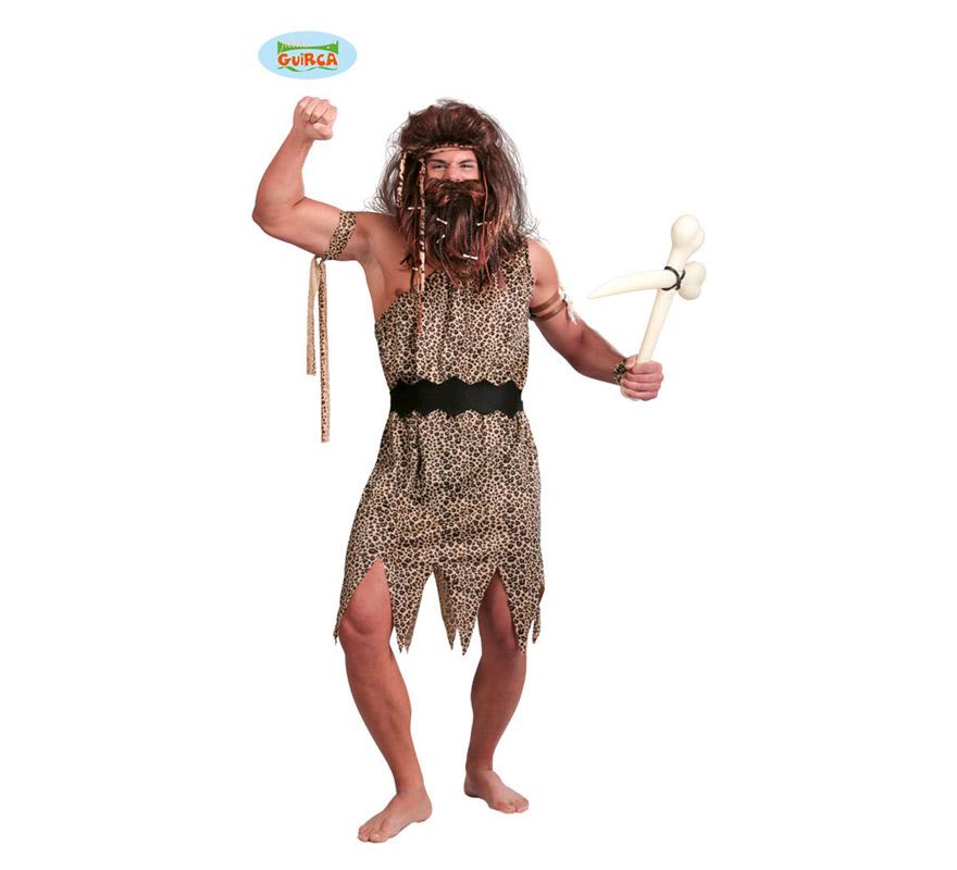 Disfraz de Troglodita para hombre adulto. Talla Standar 52/54. Incluye cinta, vestido y cinturón.