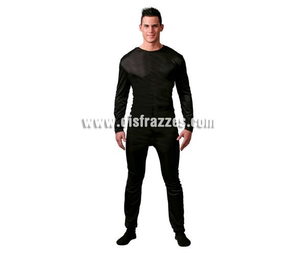 Maillot o Mono negro para hombre adulto. Talla Standar 52/54. Incluye el Maillot o Mono negro. Ideal para ponértelo debajo del disfraz si crees que vas a pasar frío. Tejido elástico de alta calidad, se adapta al cuerpo.