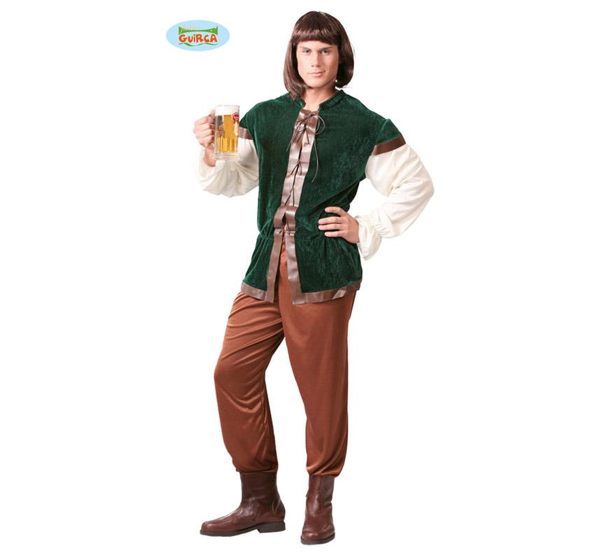 Disfraz de Posadero, Mesonero o Tabernero para hombre adulto. Talla Standar 52/54. Incluye casaca y pantalón.