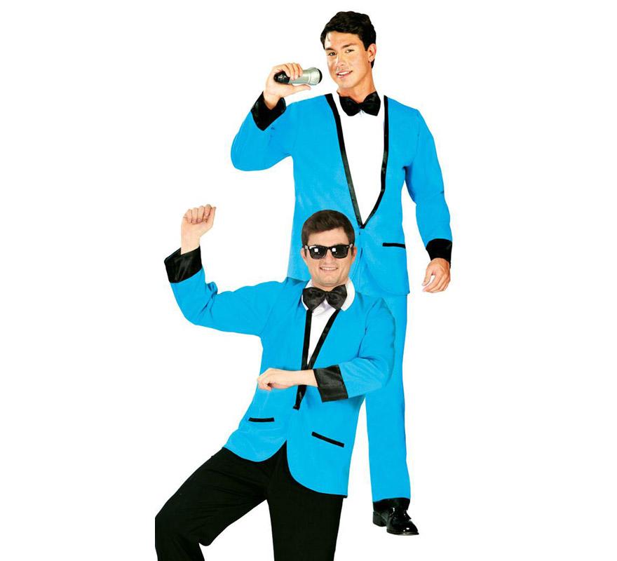 Kit de Man Style o de Hombre con estilo 2 en 1 para hombre. Talla Standar 52/54. Incluye chaqueta, camisa y pajarita. Pantalones, micrófono y gafas NO incluidos. El micrófono y las gafas podrás encontrarlo en la sección de Accesorios. Con este disfraz podrás bailar en Gangnam style del artista surcoreano.